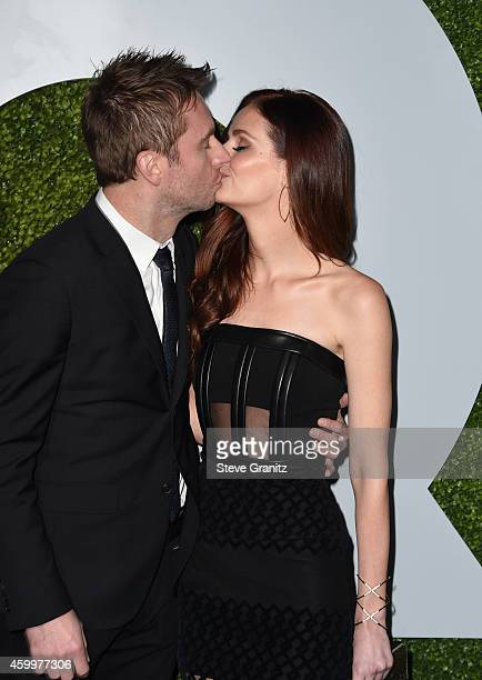 TV personality Chris Hardwick and actress Lydia Hearst attend the 2014 GQ Men Of The Year party at Chateau Marmont on December 4 2014 in Los Angeles...
