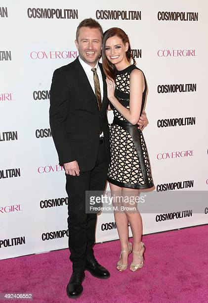 TV personality Chris Hardwick and actress/model Lydia Hearst attend Cosmopolitan's 50th Birthday Celebration at Ysabel on October 12 2015 in West...