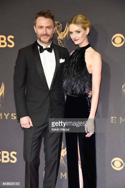 TV personality Chris Hardwick and Lydia Hearst attend the 69th Annual Primetime Emmy Awards at Microsoft Theater on September 17 2017 in Los Angeles...