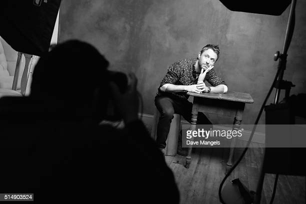 Personality Chris Hardwick is seen behind the scenes at the Getty Images SXSW Portrait Studio powered by Samsung on March 11, 2016 in Austin, Texas.