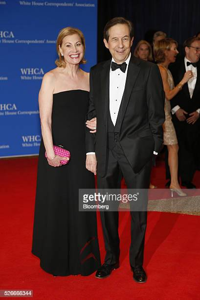 TV personality Chris Wallace right and Lorraine Martin Smothers arrive for the White House Correspondents' Association dinner in Washington DC US on...
