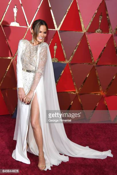 TV personality Chrissy Teigen attends the 89th Annual Academy Awards at Hollywood Highland Center on February 26 2017 in Hollywood California