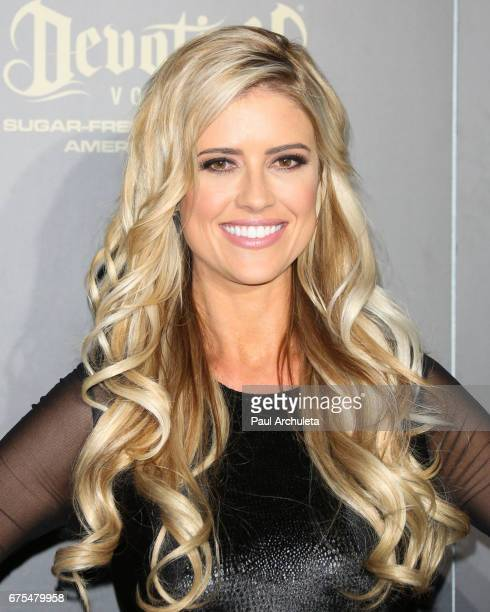 Personality Christina El Moussa attends the press room for the 44th annual Daytime Emmy Awards at Pasadena Civic Auditorium on April 30, 2017 in...