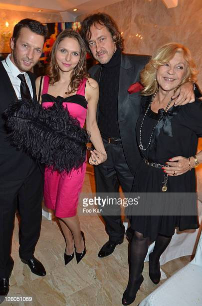 TV personality Christophe Rocancourt socialite Tatiana Kerylos Jean Christophe Molinier and singer Nicoletta attend 'The Bests' Awards 2010 Ceremony...