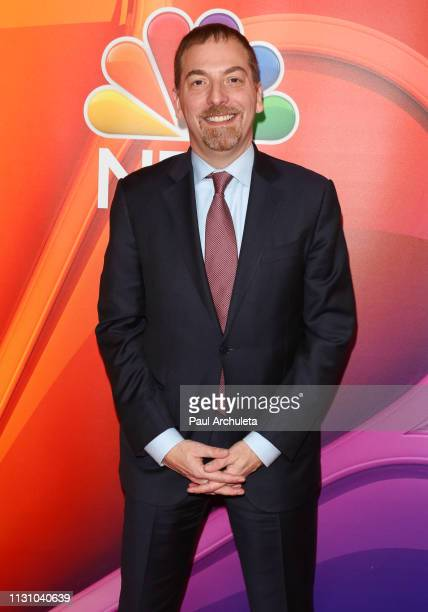 Personality Chuck Todd attends the NBC's Los Angeles midseason press junket at NBC Universal Lot on February 20 2019 in Universal City California