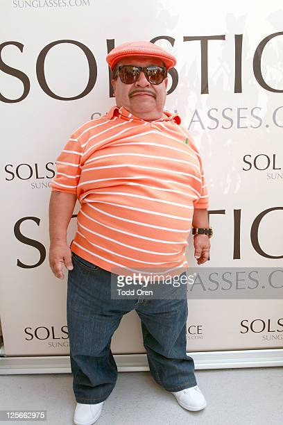 TV personality Chuy Bravo with BOSS Black 0017S sunglasses at the SOLSTICE and Safilo USA booth during HBO Luxury Lounge in honor of the 63rd...