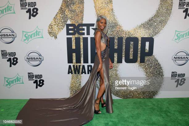 TV personality Cierra Brooks arrives at the BET Hip Hop Awards 2018 at Fillmore Miami Beach on October 6 2018 in Miami Beach Florida