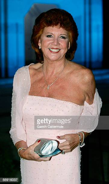 TV personality Cilla Black arrives at ITV's 50th Anniversary Royal Reception at the Guildhall on October 13 2005 in London England Queen Elizabeth II...