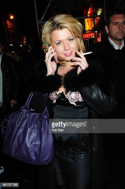 TV personality Cindy Lopes from Secret Story 3 attends the Trophees de la Nuit 2009 in front of the Palace on November 23 2009 in Paris France