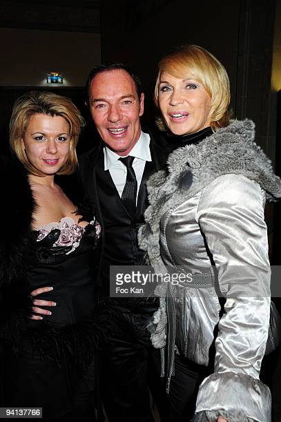 TV personality Cindy Lopes from Secret Story 3 Tony Gomez from the Queen Club and TV personality Marlene Mourreau attend the Trophees de la Nuit 2009...