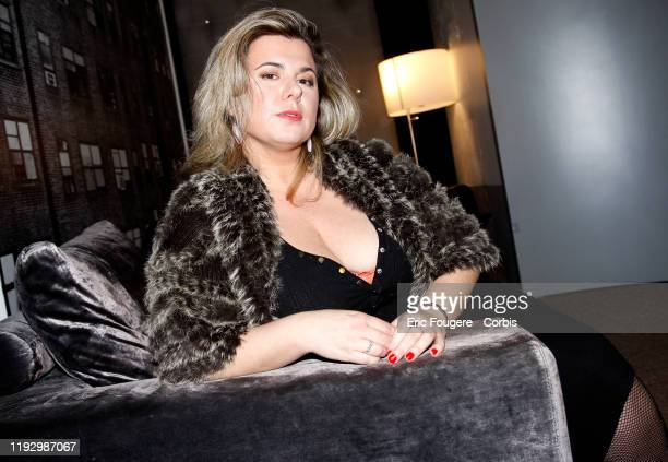 Personality Cindy Lopes poses during a portrait session in Paris, France on .