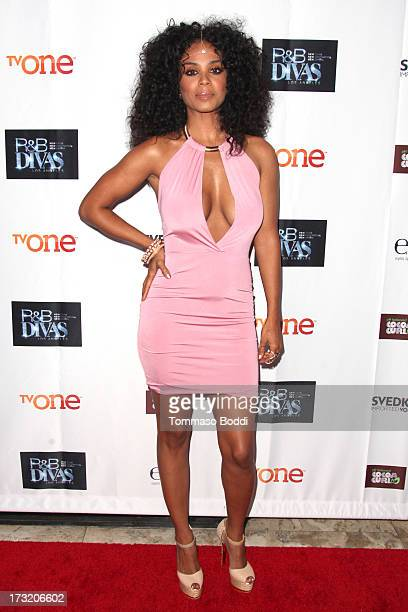 TV personality Claudette Ortiz attends the TV One's New Series 'RB Divas LA' launch party held at The London Hotel on July 9 2013 in West Hollywood...