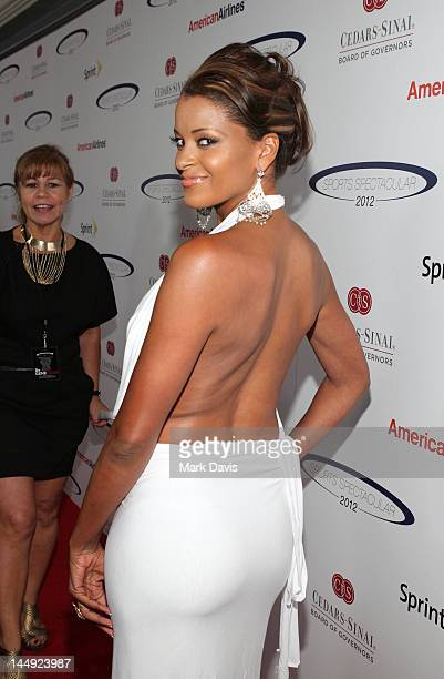 TV personality Claudia Jordan arrives at the 27th Anniversary Sports Spectacular benefiting CedarsSinai Medical Genetics Institute at the Hyatt...