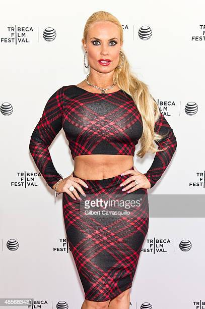 Personality Coco Austin attends Tribeca Talks After the Movie 'Champs' during the 2014 Tribeca Film Festival at SVA Theater on April 19 2014 in New...