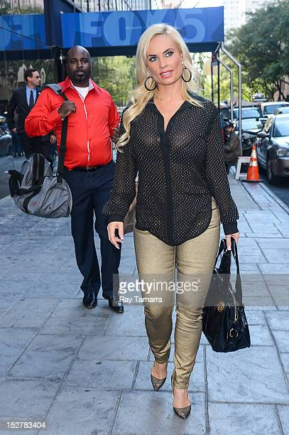 TV personality Coco Austin leaves the 'Good Day New York' taping at the Fox 5 Studios on September 25 2012 in New York City