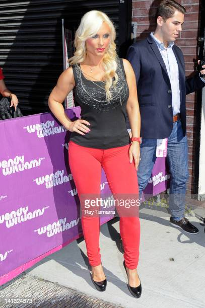 TV personality Coco Austin leaves the 'Wendy Williams Show' taping at the AMV Studios on March 14 2012 in New York City