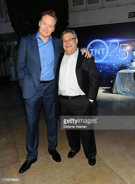TV personality Conan O'Brien and Steve Koonin President Turner Entertainment Networks attend TNT 25TH Anniversary Party during Turner Broadcasting's...