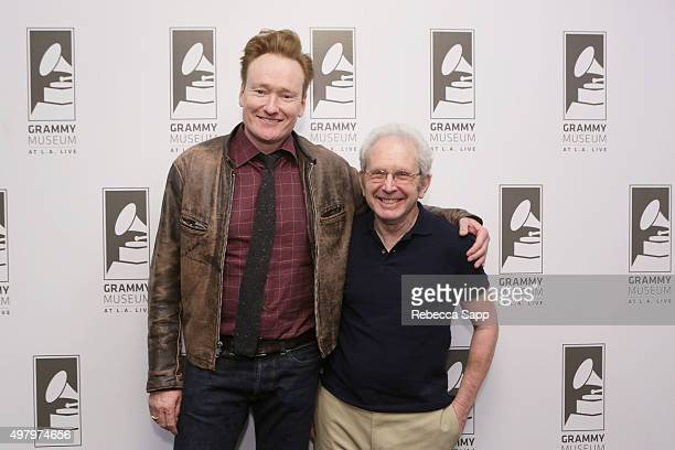 TV personality Conan O'Brien and writer Peter Guralnick attend Sam Phillips The Man Who Invented Rock n Roll A Conversation with Peter Guralnick...