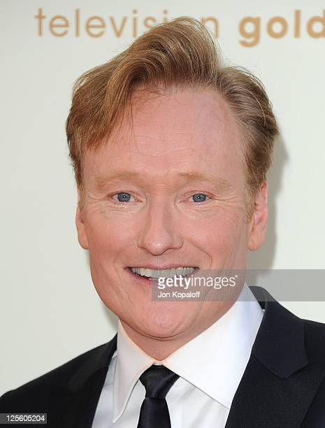 TV personality Conan O'Brien arrives at the 63rd Primetime Emmy Awards held at Nokia Theatre LA Live on September 18 2011 in Los Angeles United States