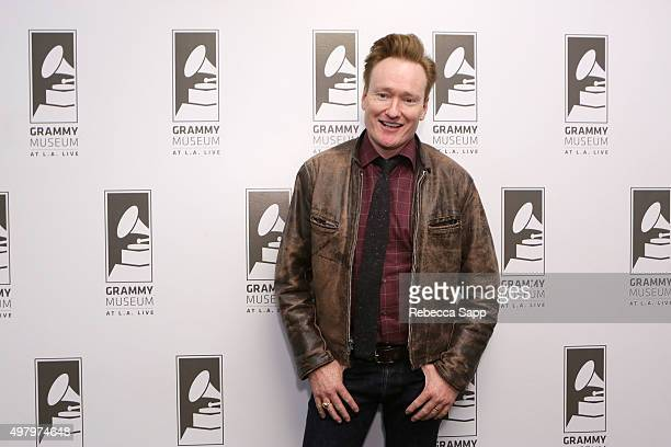 TV personality Conan O'Brien attends Sam Phillips The Man Who Invented Rock n Roll A Conversation with Peter Guralnick Conan O'Brien at The GRAMMY...