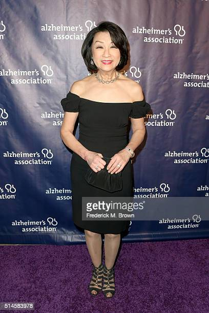 TV personality Connie Chung attends the 24th and final A Night at Sardi's to benefit the Alzheimer's Association at The Beverly Hilton Hotel on March...