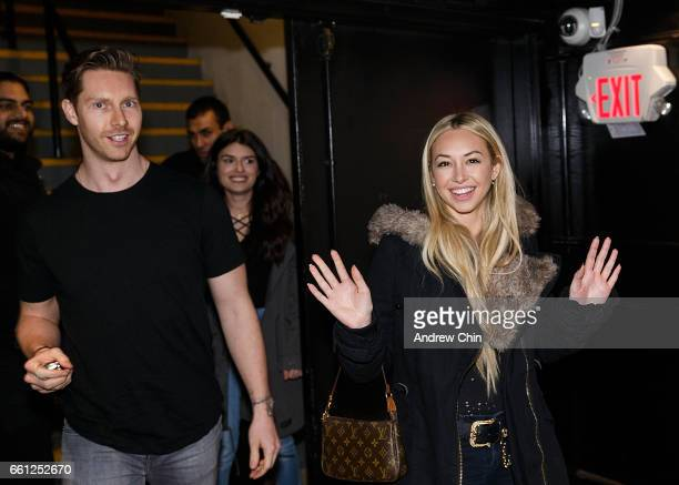 TV personality Corinne Olympios attends 'Thursday Pint Night With Corinne Olympios' at The Pint Public House in Gastown on March 30 2017 in Vancouver...