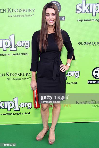 TV personality Cory Oliver attends the Skip1org's Skip And Donate gala event held at The Lot on April 6 2013 in West Hollywood California