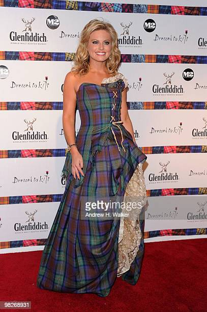 TV personality Courtney Friel attends the 8th annual 'Dressed To Kilt' Charity Fashion Show presented by Glenfiddich at M2 Ultra Lounge on April 5...
