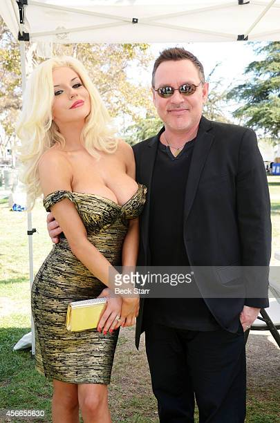 TV personality Courtney Stodden and and her husband actor Doug Hutchison attend The LA Feline Film Festival at Exposition Park on September 21 2014...