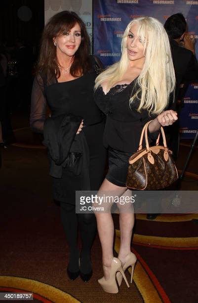Personality Courtney Stodden and her mother Krista Keller Stodden attend The Los Angeles Police Protective League Eagle Badge Foundation's 12th...