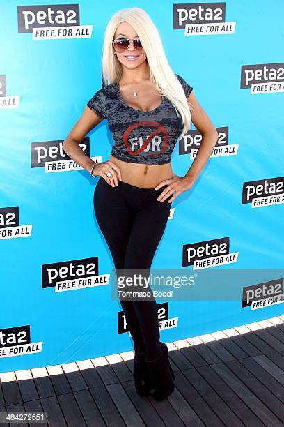 TV personality Courtney Stodden attends the Peta2's 2nd annual 'Blankets For Shelters' drive held at The Bob Barker Building on April 11 2014 in Los...