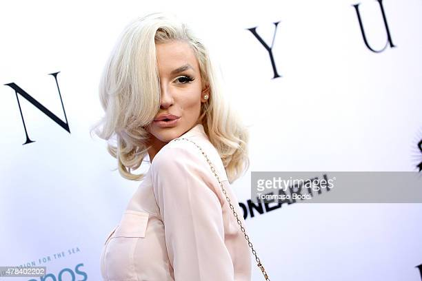 TV personality Courtney Stodden attends the world premiere screening of documentary Unity held at the DGA Theater on June 24 2015 in Los Angeles...
