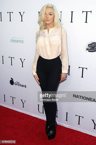 """Personality Courtney Stodden attends the world premiere screening of documentary """"Unity"""" held at the DGA Theater on June 24, 2015 in Los Angeles,..."""