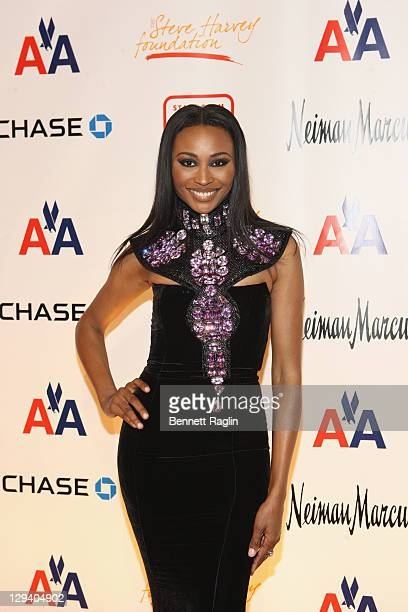 Personality Cynthia Bailey attends the 2nd annual Steve Harvey Foundation gala at Cipriani Wall Street on April 4, 2011 in New York City.