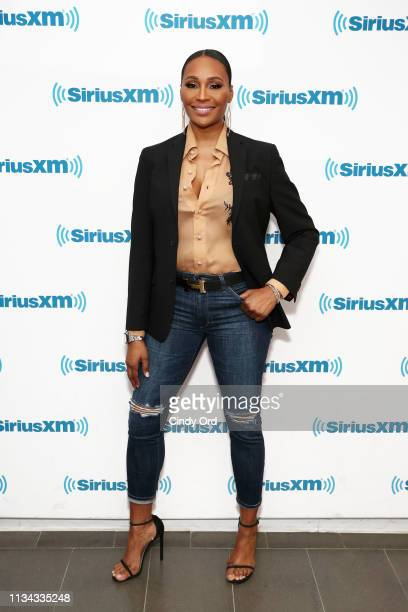 TV personality Cynthia Bailey visits the SiriusXM Studios on April 1 2019 in New York City
