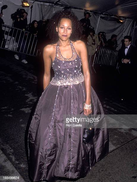 TV personality Cynthia Garrett attends The Metropolitan Museum's Costume Institute Gala Exhibiton of Rock Style on December 6 1999 at The...