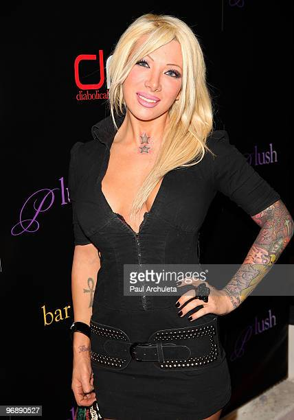 Personality Daisy de la Hoya arrives to celebrate the grand opening of Bar210 And Plush at Bar 210 in The Beverly Hilton hotel on February 19 2010 in...