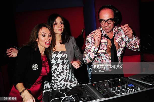 TV personality Daisy D'Errata daughter actress Anais Tellenne and her father TV presenter Karl Zero attend the Karl Zero DJ set party at the Hotel...