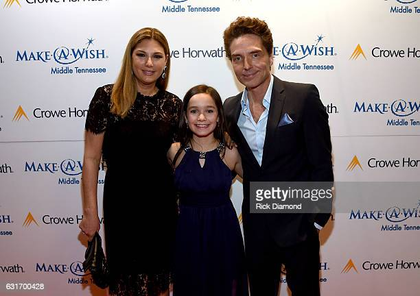 Personality Daisy Fuentes, Wish Kid Jessica, and singer Richard Marx attend Make-A-Wish Middle Tennessee's Fifth Annual Stars for Wishes on January...