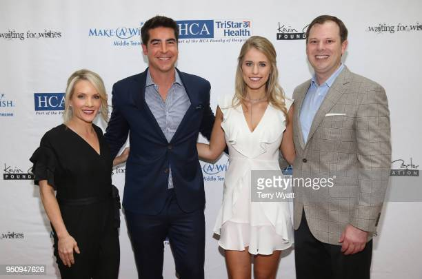 TV personality Dana Perino TV host Jesse Watters artist Jillian Cardarelli and Brian Parker attend the 17th annual Waiting for Wishes celebrity...