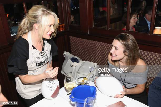 TV personality Dana Perino waits tables at the 17th annual Waiting for Wishes celebrity dinner at The Palm on April 24 2018 in Nashville Tennessee