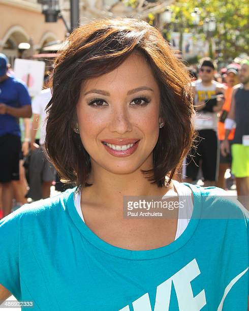 Personality / Dancer Cheryl Burke hosts We Run The Grove at The Park at The Grove on April 26 2014 in Los Angeles California