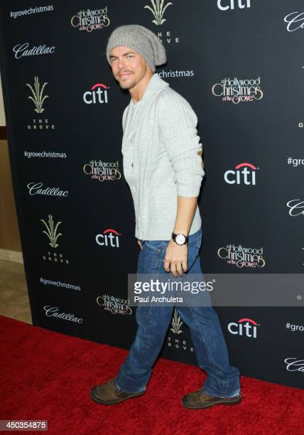 Personality / Dancer Derek Hough attends The Grove's 11th Annual Christmas Tree Lighting Spectacular at The Grove on November 17 2013 in Los Angeles...