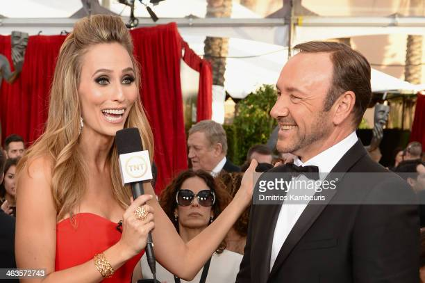 TV personality Danielle Demski and actor Kevin Spacey attend 20th Annual Screen Actors Guild Awards at The Shrine Auditorium on January 18 2014 in...