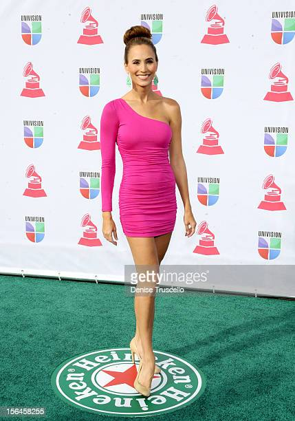Personality Danielle Demski arrives at the 13th annual Latin GRAMMY Awards held at the Mandalay Bay Events Center on November 15 2012 in Las Vegas...