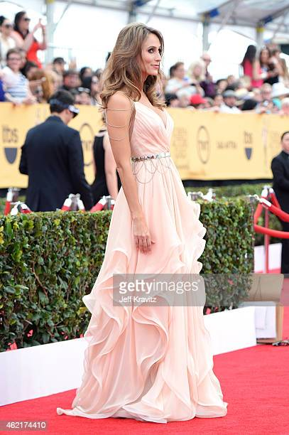 TV personality Danielle Demski attends the 21st Annual Screen Actors Guild Awards at The Shrine Auditorium on January 25 2015 in Los Angeles...