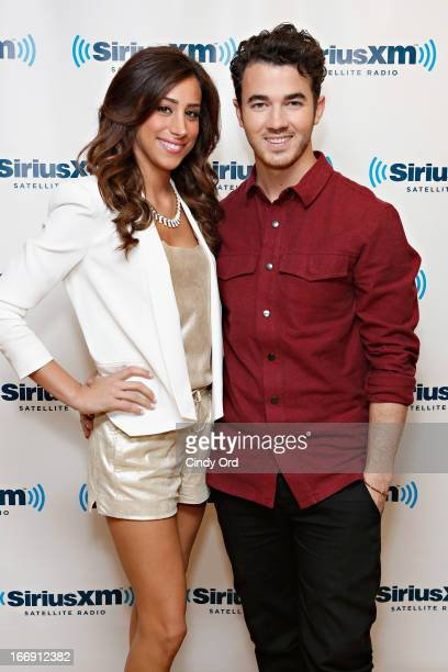 TV personality Danielle Jonas and musician Kevin Jonas visit the SiriusXM Studios on April 18 2013 in New York City