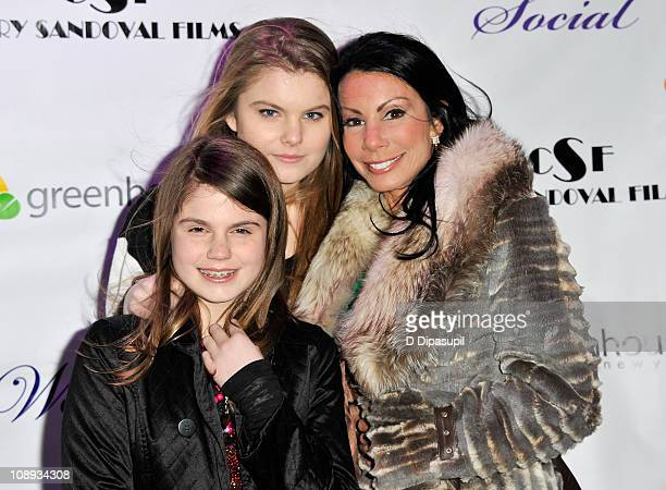 TV personality Danielle Staub and daughters Jillian Staub and Christine Staub attend the Social launch party at Greenhouse on February 8 2011 in New...