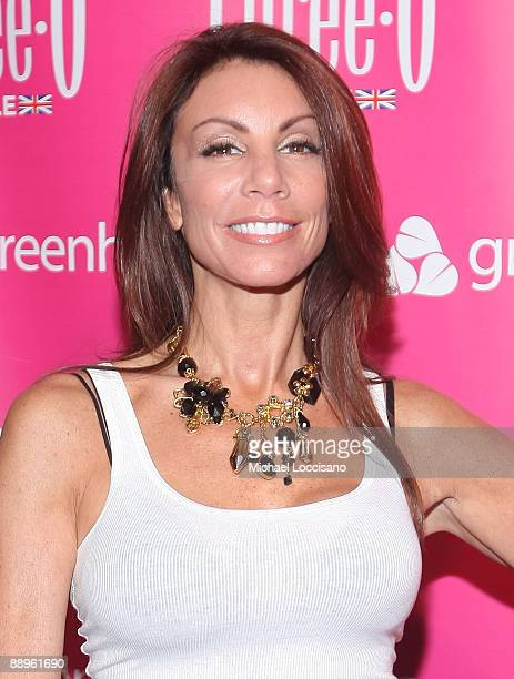 TV personality Danielle Staub attends the ThreeO Vodka Bubble launch at Greenhouse on July 9 2009 in New York City