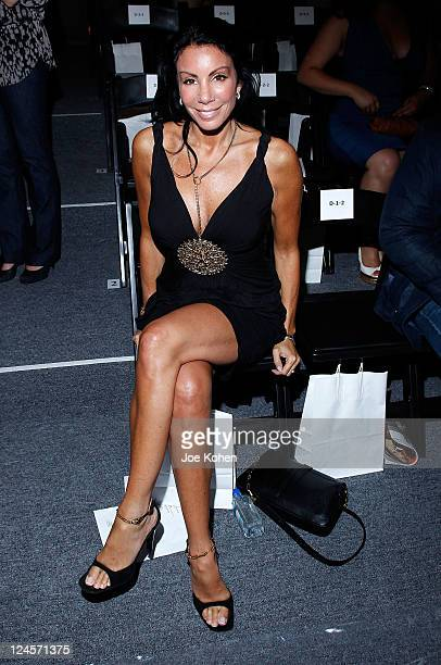 Personality Danielle Staub attends the Venexiana Spring 2012 fashion show during MercedesBenz Fashion Week at The Studio at Lincoln Center on...